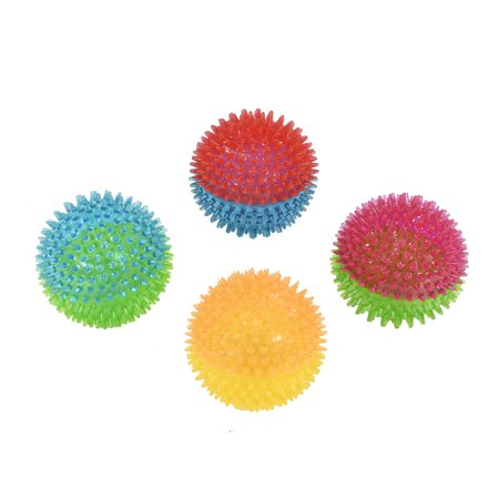 Vibrant Life Fetch Buddy Spike Ball Dog Toy, Medium, Chew Level 3, Assorted Color May Vary