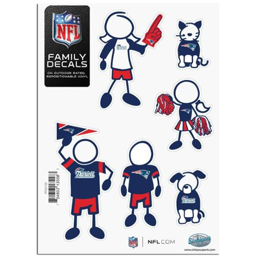 New England Patriots Official NFL Small Family Decal Set by Siskiyou 135583
