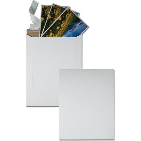 Quality Park, QUA64015, Sturdy Fiberboard Photo Mailers, 25 / Box, White
