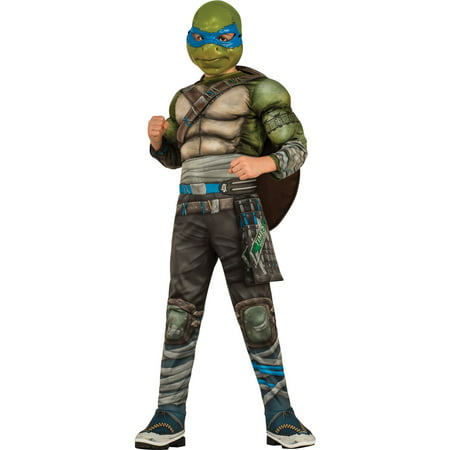 Teenage Mutant Ninja Turtles Boys Super Deluxe Leonardo Halloween Costume (Halloween Small Group Games)