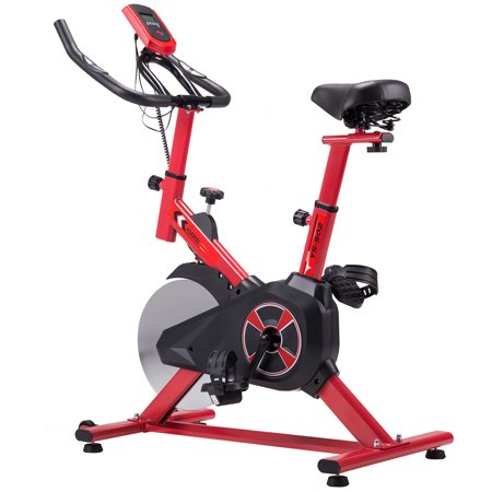 KUOKEL Exercise Bike, Indoor Cycling Bike Trainer with 22lb Flywheel Digital Monitor Indoor Exercise Cycle With Adjustable Seat & Handlebar