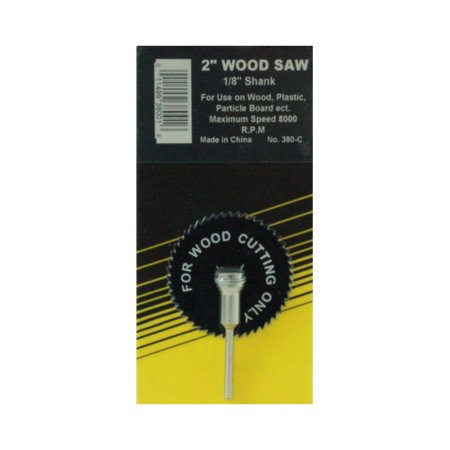 """2"""" X 1/8"""" Shank Combo Wood Saw Blade (For Use With Drill)"""
