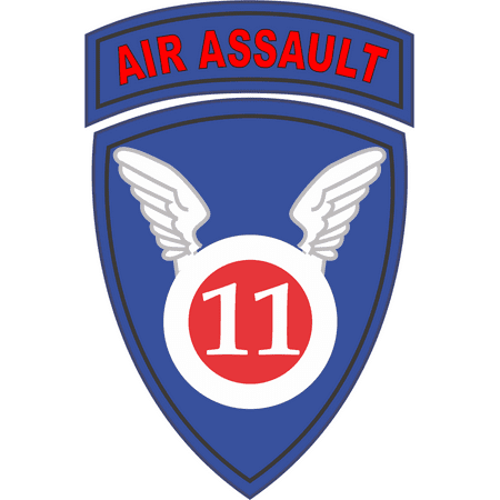- 3.8 Inch 11th Airborne Division Air Assault Decal