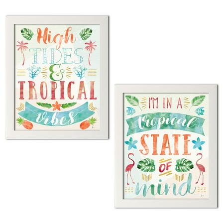 gango home decor tropical words of paradise ii iii by jess aiken