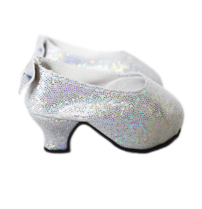 My Brittany's Silver Back Bow High Heel Shoes for American Girl Dolls- 18 Inch Doll Shoes