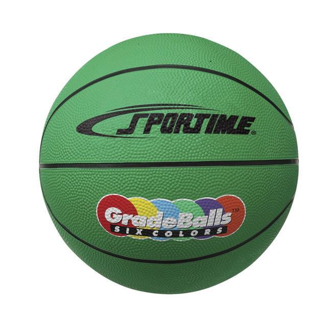 Sportime 1599264 27 in. Gradeball Rubber Junior Basketball, Green