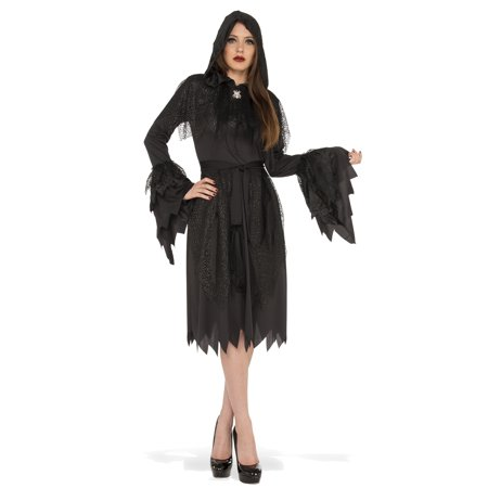 Cloak Of Darkness Adult Women Witch Vampire Gothic Halloween Costume-Std](Gothic Vampire Clothing)