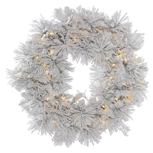 The Holiday Aisle Flocked Artificial Christmas Wreath Unlit