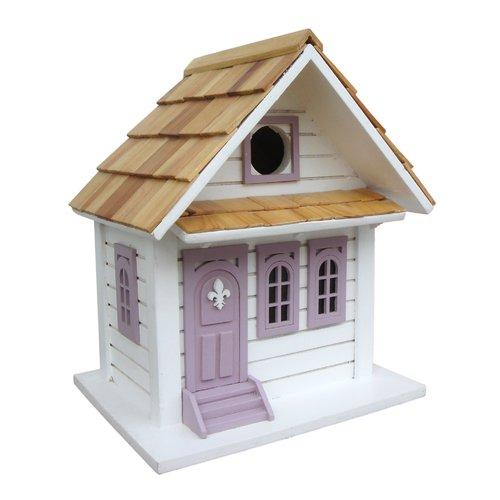 Home Bazaar Fledgling Series Shotgun Cottage 10 in x 8 in x 6 in Birdhouse