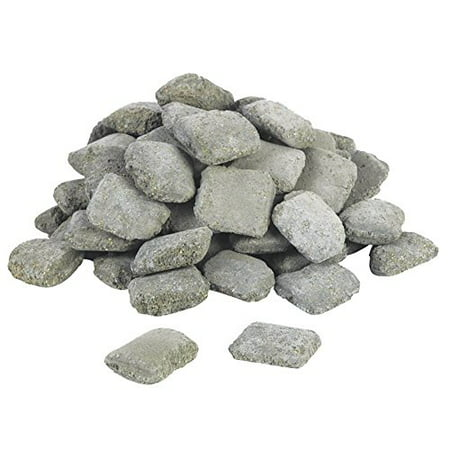 (Replacement Ceramic Briquettes for Gas and Electric Grills - Pack of 60-piece)