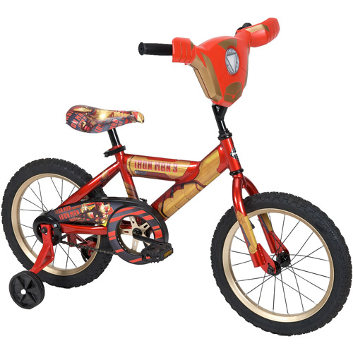 """16"""" Huffy Marvel Iron Man 3 Boys' Bike with Lights and Sounds, Red"""