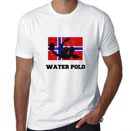 Norway Olympic - Water Polo - Flag - Silhouette Men's T-Shirt