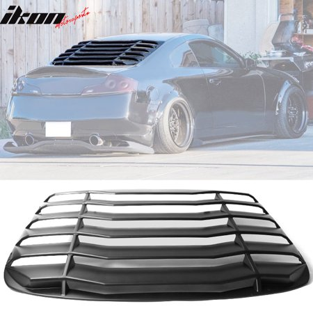Compatible with 03-07 Infiniti G35 Coupe Rear Window Louver Unpainted