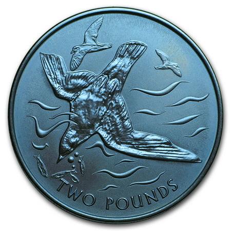 2018 British Virgin Islands 1/3 oz Blue Titanium Blue Petrel