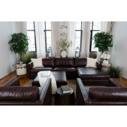 Elements Fine Home Urban Leather 4 Pc. Sofa Set with Square Cocktail Ottoman