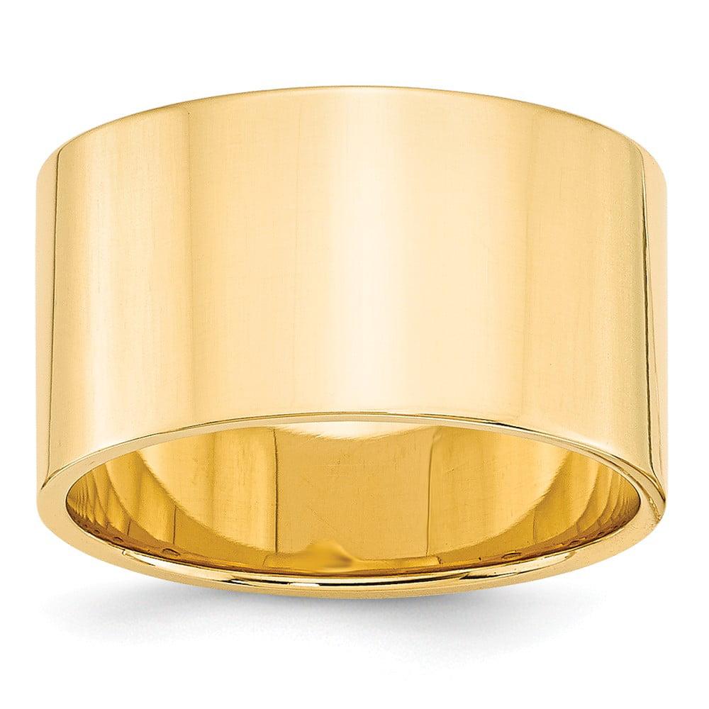 14k Yellow Gold Flat Band Size 5.5