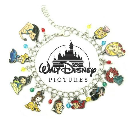 Princess Charm Bracelet Disney Classic Cartoon w/Gift Box Fairytale Premium Cosplay Jewelry Series by Superheroes Brand