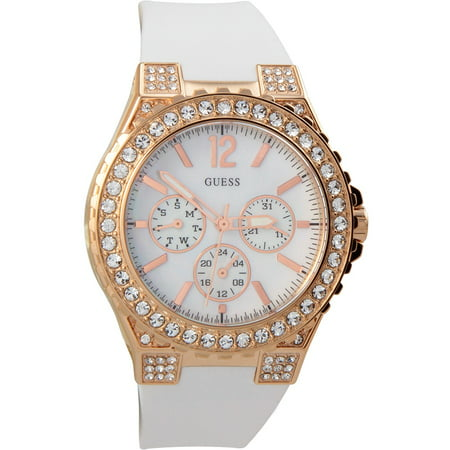 - U16529L1 40 MM Case With White MOP Dial White Rubber Band Women's Watch