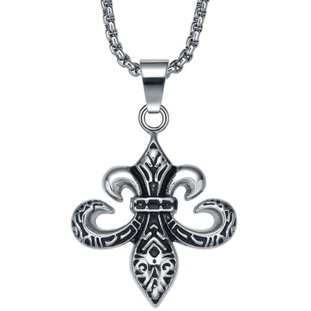 Stainless steel inverted fleur de lis pendant necklace walmart stainless steel inverted fleur de lis pendant necklace aloadofball