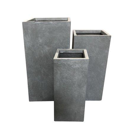 Lightweight Planter (Durx-litecrete Lightweight Concrete Tall Light Grey)