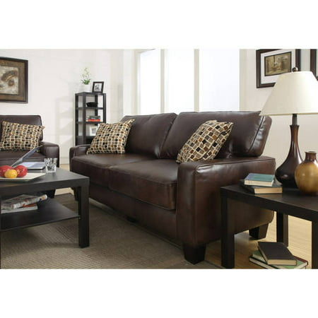 "Serta RTA Palisades Collection 73"" Sofa in Chestnut Brown, CR43533P"