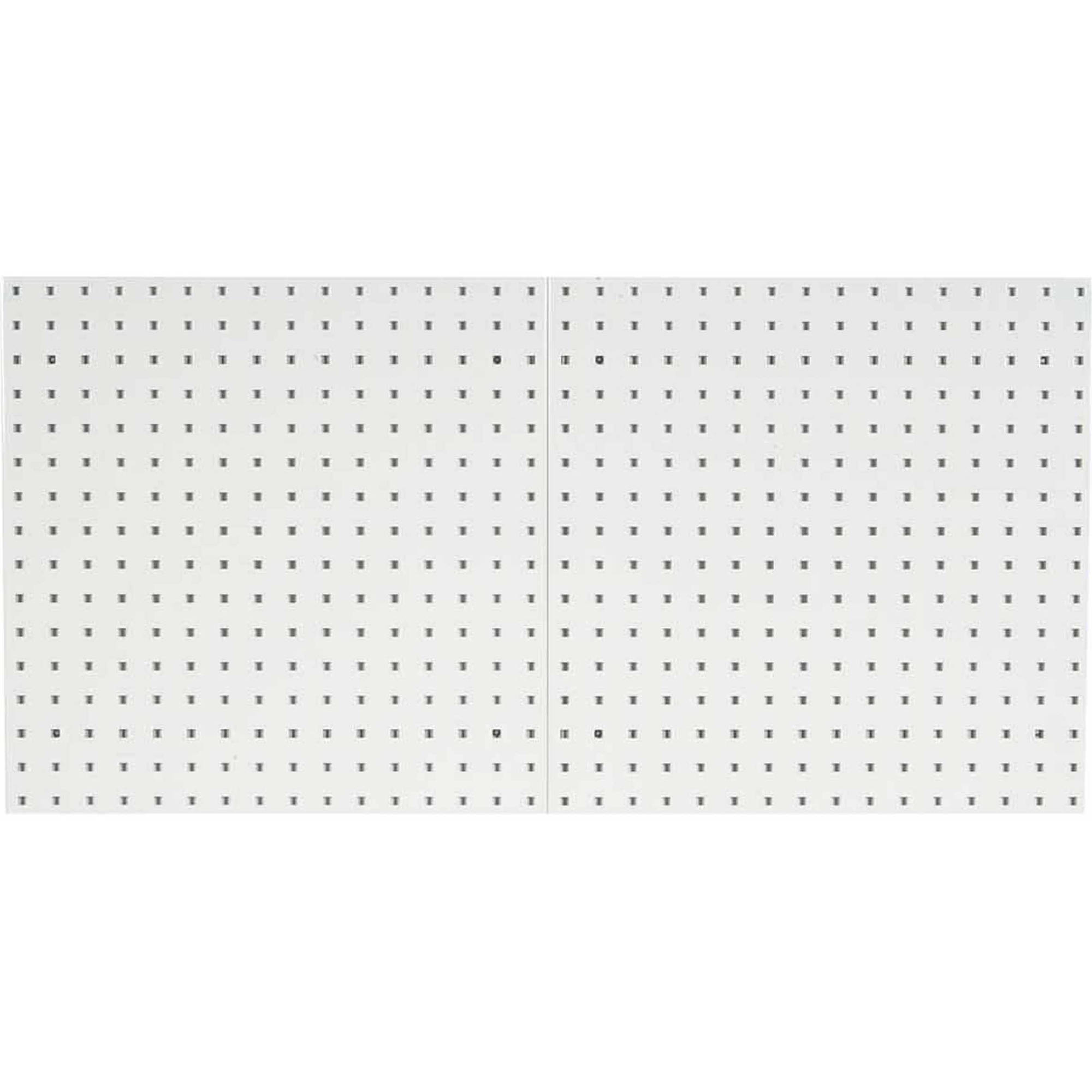 "LocBoard (2) 24""W x 24""H x 9/16""D Epoxy, 18 Gauge Steel Square Hole Pegboards"