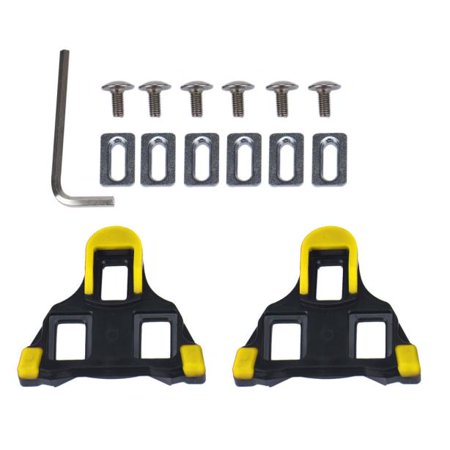 - 2 x Bicycle Bike Self-locking Pedal Cleats Feet Treadles Replacement with Repair Tools Set