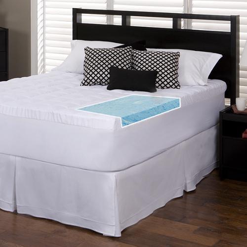 Slumber Solutions  Gel Memory Foam and Fiber-filled Cover...
