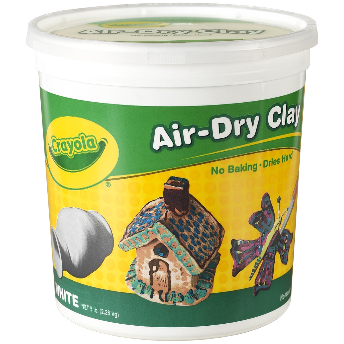 Crayola Air-Dry Easy-to-Use Durable Non-Toxic Self-Hardening Modeling Clay, 5 lb Bucket,... by Crayola