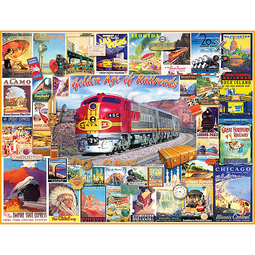 White Mountain Puzzles Golden Age of Railroads Puzzle, 1000 Pieces