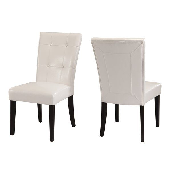 Modus Furniture 2Y0266 Bossa Leatherette Parsons Chair (Set of 2) by Modus Furniture