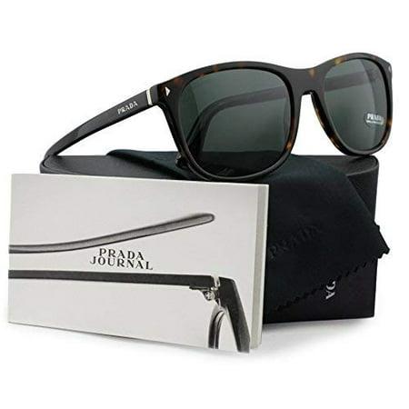 4caa9ada74c Prada SPR01R Journal Sunglasses Havana w Grey Green (2AU-3O1) PR 01RS  2AU3O1 57mm Authentic - Walmart.com