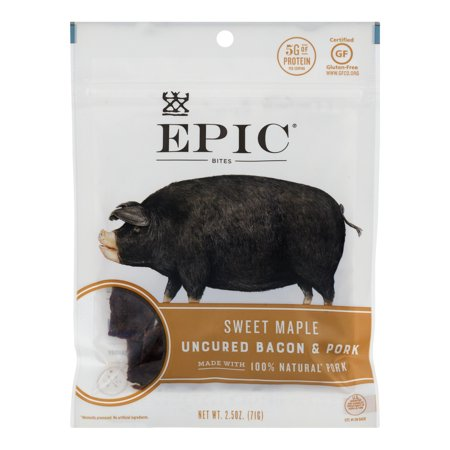 EPIC Uncured Bacon Pork Sweet Maple, 2.5 OZ