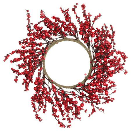 Northlight Festive Red Berries Unlit Christmas Wreath Berry Christmas Wreath