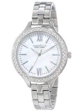 Caravelle 43L165 Women's Stainless Steel Mother Of Pearl Dial Crystals Watch