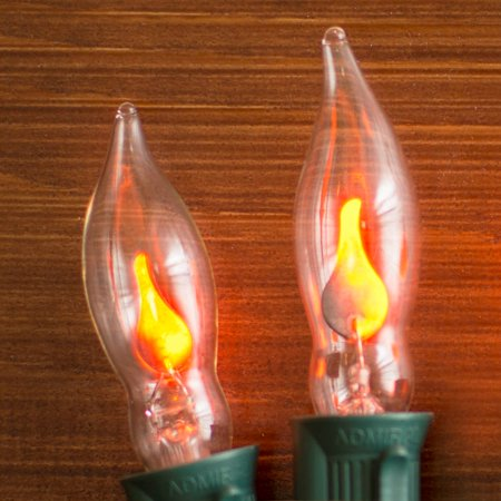 christmas lights replacement bulbs c7 flicker flame 1w120v 2 pack pointed tip