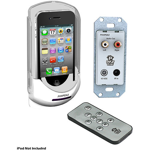 Pyle In-Wall Mounted Audio Docking Center for iPod/iPhone with Wireless Remote