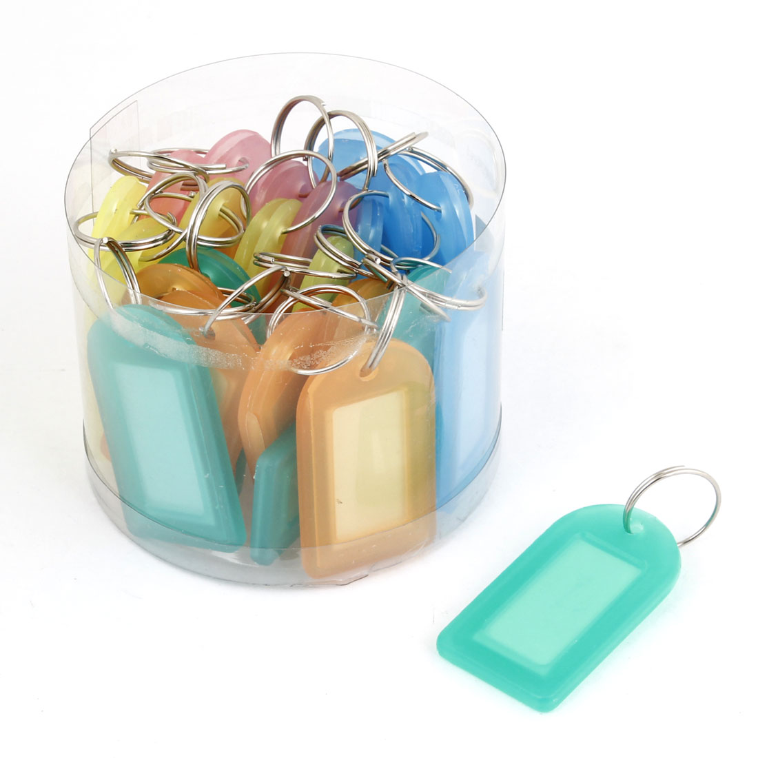 Unique Bargains 25 Pcs Plastic ID Card Name Tag Badge Clip Holder school Office Students Stationery Assorted Color