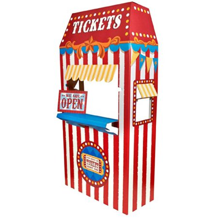 Ticket Booth Cardboard Stand, 6' Tall