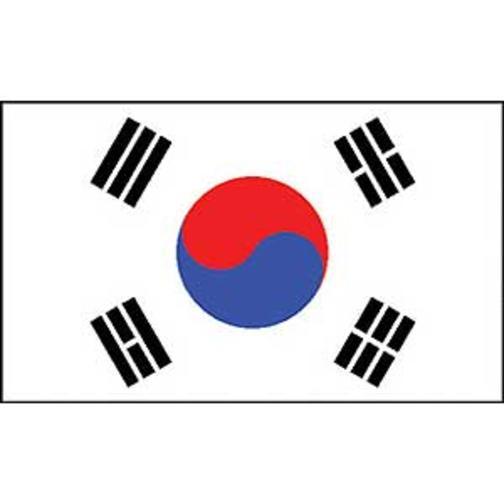 """South Korea Flag On A Stick 12"""" x 18"""""""