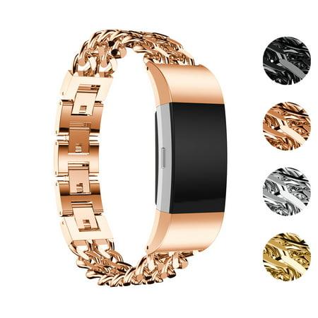 StrapsCo Sangle de Bracelet de Montre en Chaînons en Alliage pour Fitbit Charge 2 - image 4 de 4