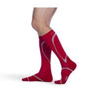 Sigvaris 412CMM59 20-30mmHg Knee High Compression Sock; Medium And Medium; Red