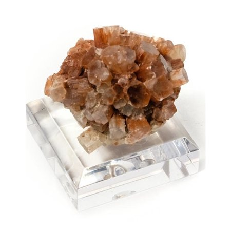 Aragonite Crystal - Mapleton Drive Aragonite Crystal Cluster with Acrylic Stand