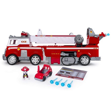 PAW Patrol - Ultimate Rescue Fire Truck with Extendable 2 Foot Tall Ladder, Ages 3 and Up (Paw Patrol Font)