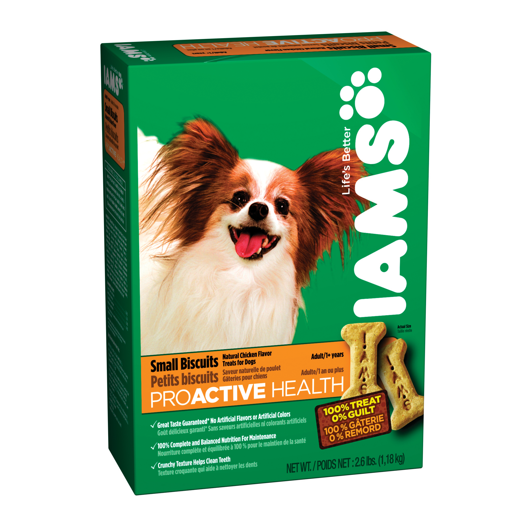 Iams Proactive Health Small Biscuits Adult Dog, 2.6Lb Bag (1.18 Kg.)