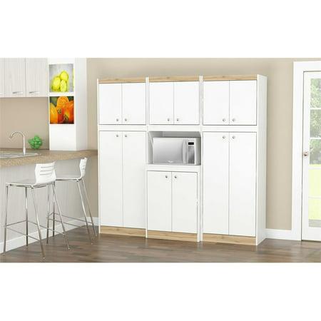 Inval GALLEY 3-Piece Kitchen Storage System, White and Vienes Oak