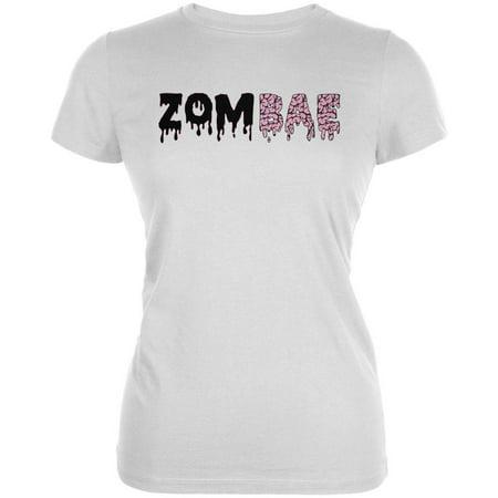 Halloween Zombae Zombie Brain Juniors Soft T Shirt - Zombie T Shirts For Halloween