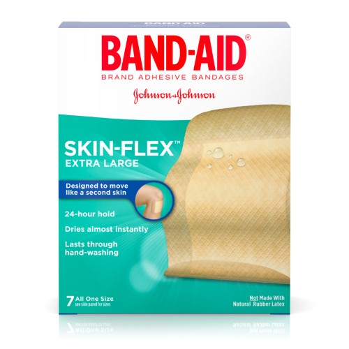 Band-Aid Brand Skin-Flex Adhesive Bandages, Extra Large, 7 Count (Pack of 2)