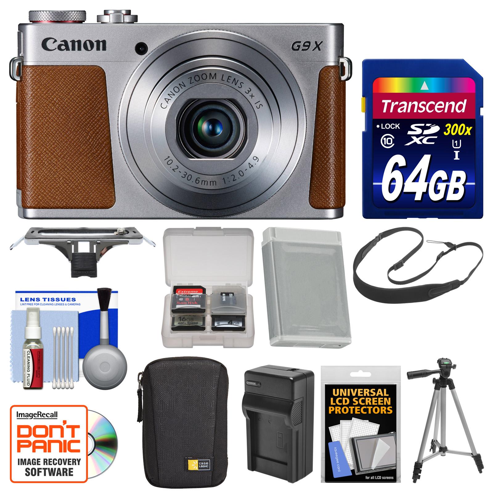 Canon PowerShot G9 X Wi-Fi Digital Camera (Silver) with 6...