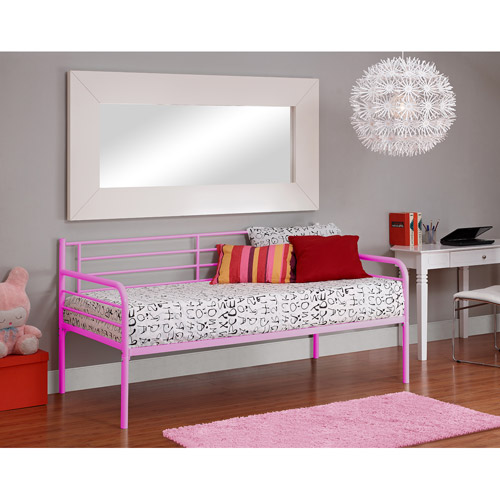 DHP Twin Metal Daybed, Pink